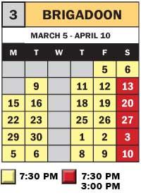 BRIGADOON Calendar