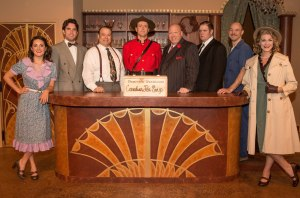Cast of TOO MANY COOKS at Circle Theatre, running October 17 – November 16, 2013.